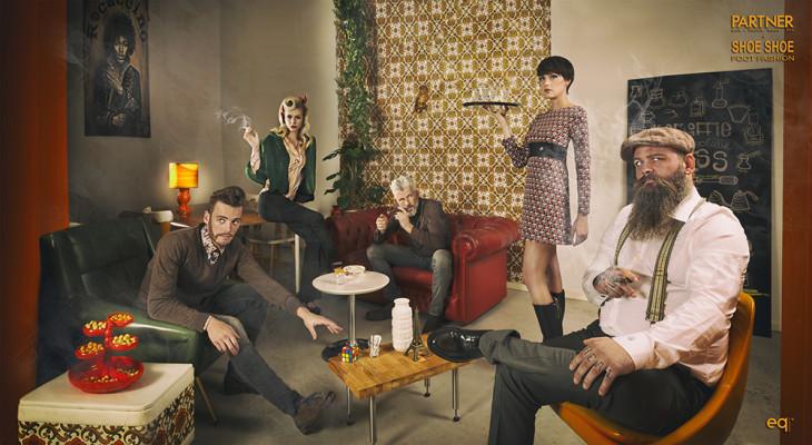 Retro shoot Rocaccino Oss voor Partner man vrouw mode