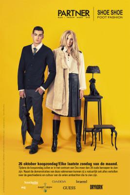 Partner man vrouw mode fashionshoot